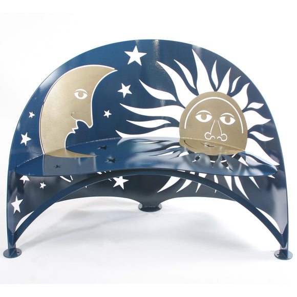 Cricket Forge Celestial Bench, Artistic Functional Outdoor-Indoor Metal Furniture