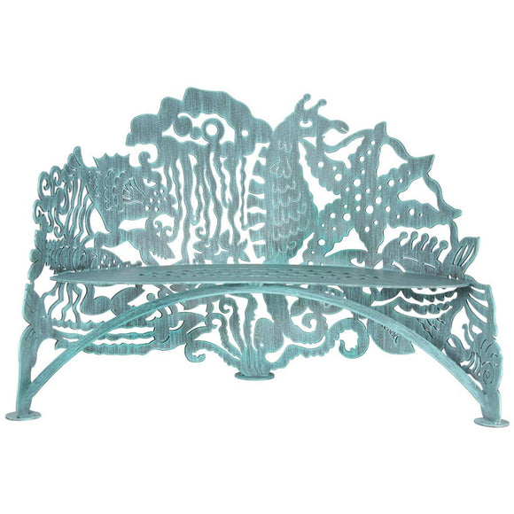 Cricket Forge Don Drumm Sea Life Bench, Artistic Functional Outdoor-Indoor Metal Furniture