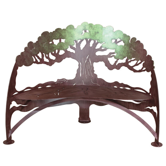 Cricket Forge Tree Bench Colorshift, Artistic Functional Outdoor-Indoor Metal Furniture