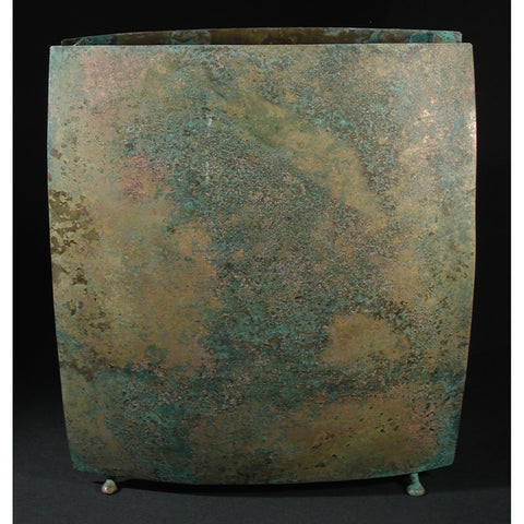 Square Vase Shown in Mottled by David Bowman Studio