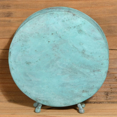 Round Vase in Blue-Green by David M. Bowman Studio