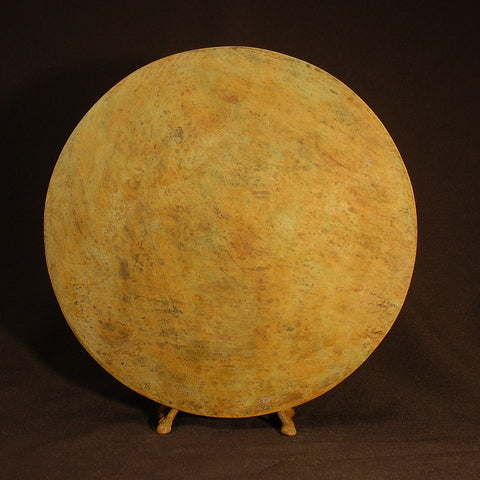 Round Vase in Ochre by David M. Bowman Studio