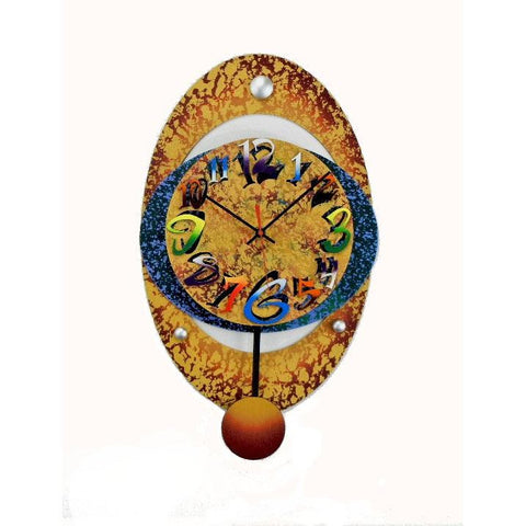 David Scherer Large Oval 20 Wall Clock Artistic Artisan Crafted Designer Clocks