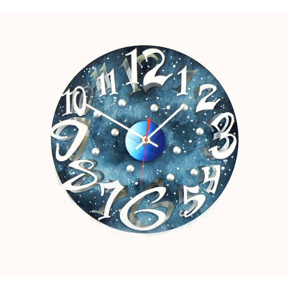 David Scherer Mod Disk Sky Wall Clock Artistic Artisan Crafted Designer Clocks