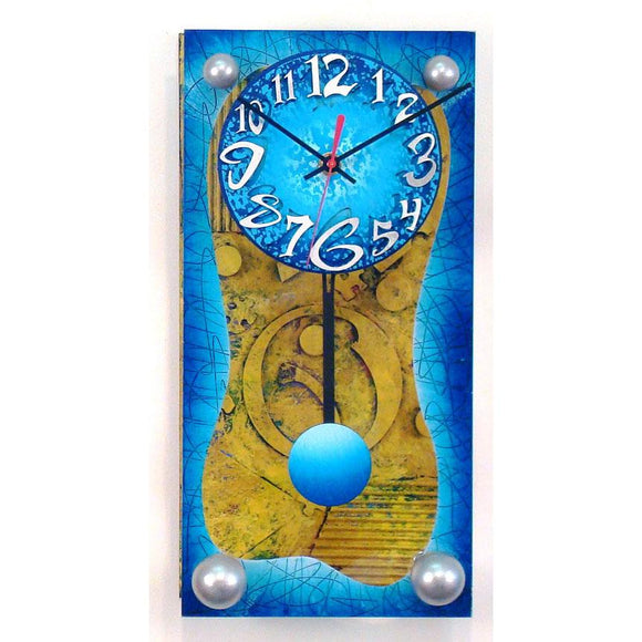 David Scherer Pendulum Wall Clock April Artistic Artisan Designer Handmade Clocks