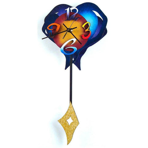 David Scherer Pendulum Wall Clock Small Heart 2 Artistic Artisan Designer Handmade Clocks