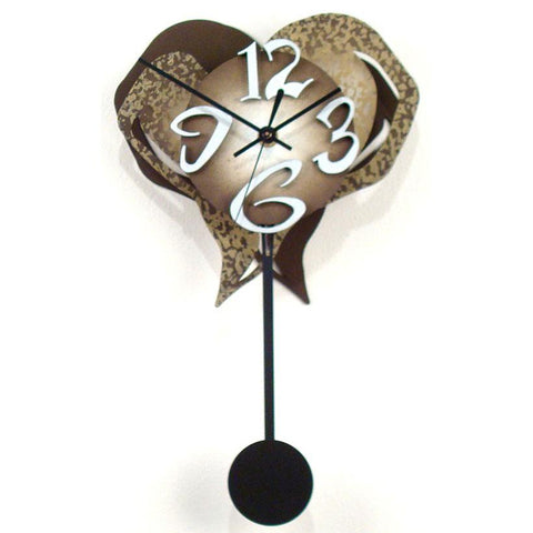 David Scherer Pendulum Wall Clock Small Heart 3 Artistic Artisan Designer Handmade Clocks