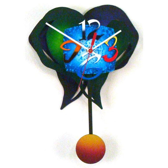 David Scherer Pendulum Wall Clock Small Heart 5 Artistic Artisan Designer Handmade Clocks