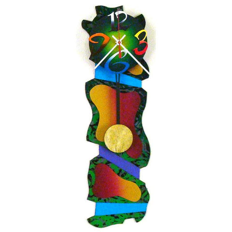 David Scherer Pendulum Wall Clock The Jungle Artistic Artisan Designer Handmade Clocks