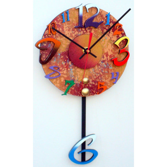 David Scherer Pendulum Wall Clock Time 6 Artistic Artisan Designer Handmade Clocks