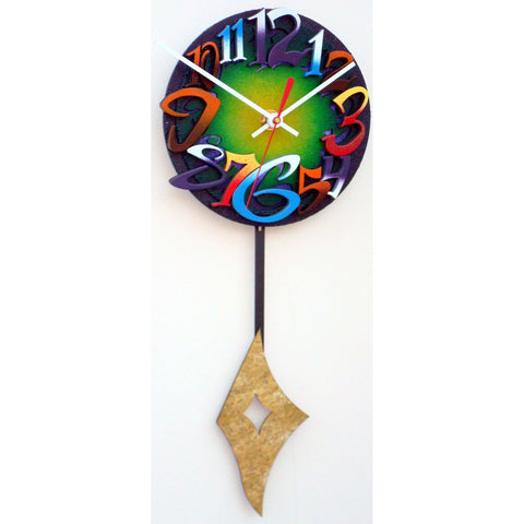 David Scherer Pendulum Wall Clock Time 7 Artistic Artisan Designer Handmade Clocks