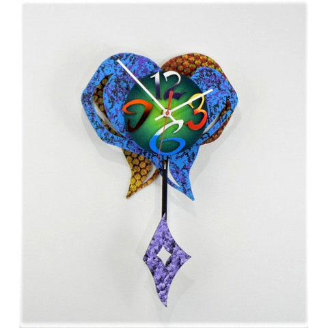 David Scherer Small Heart 12 Wall Clock Artistic Artisan Crafted Designer Clocks