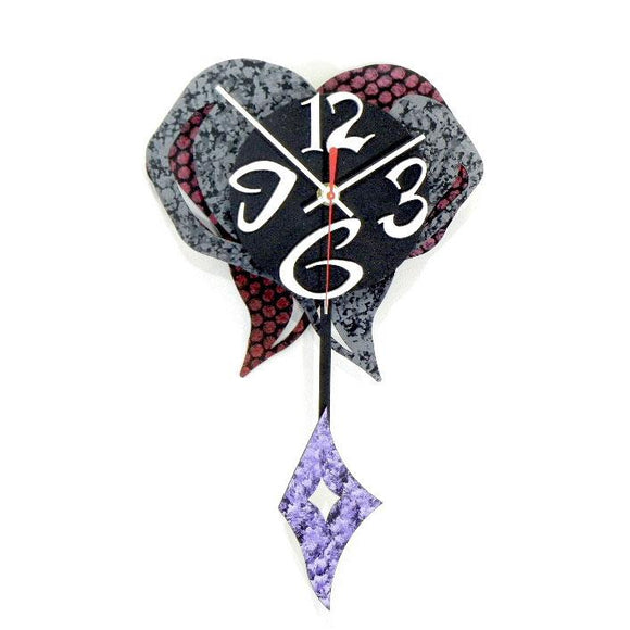 David Scherer Small Heart 9 Wall Clock Artistic Artisan Crafted Designer Clocks
