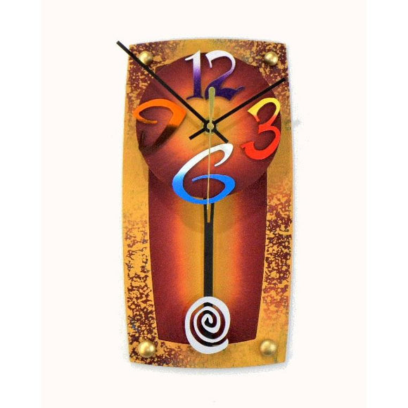 David Scherer TV 3 Wall Clock Artistic Artisan Crafted Designer Clocks