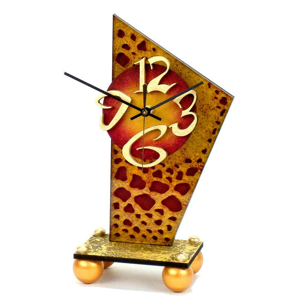 David Scherer Table Clock A Artistic Artisan Designer Handmade Clocks