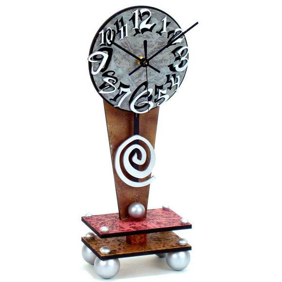 David Scherer Table Clock Dial 9 Artistic Artisan Designer Handmade Clocks