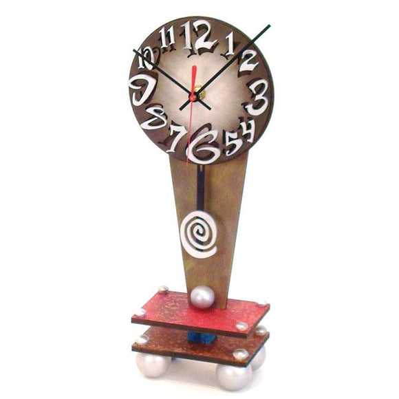 David Scherer Table Clock Dial B Artistic Artisan Designer Handmade Clocks