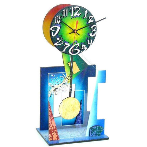 David Scherer Table Clock Ebony 93 Artistic Artisan Designer Handmade Clocks