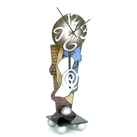David Scherer Table Clock The Silver Artistic Artisan Designer Handmade Clocks