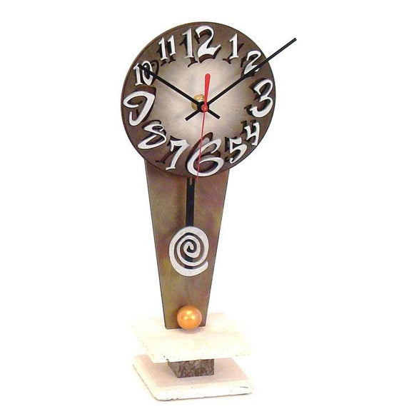 David Scherer Table Clock Type V Artistic Artisan Designer Handmade Clocks