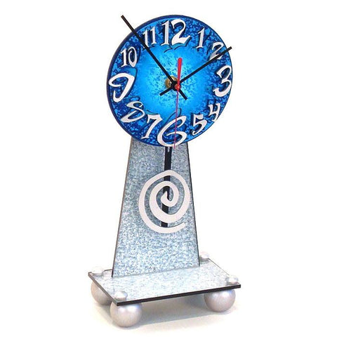 David Scherer Table Clock Zippo 2 Artistic Artisan Designer Handmade Clocks