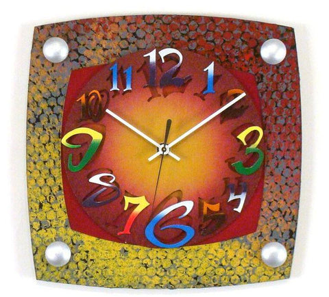 David Scherer Wall Clock Dot TV Artistic Artisan Designer Handmade Clocks