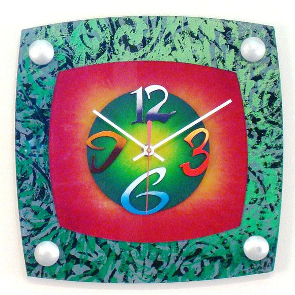 David Scherer Wall Clock TV Jungle Artistic Artisan Designer Handmade Clocks