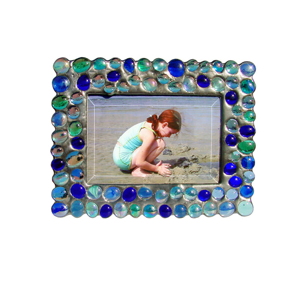 Diane Markin Bubble Blues Photo Frame BB-B, Artistic Artisan Designer Photo Frames