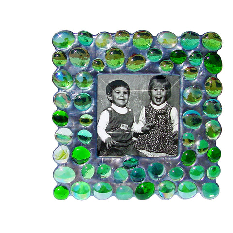 Diane Markin Bubble Greens Photo Frame BB-G, Artistic Artisan Designer Photo Frames