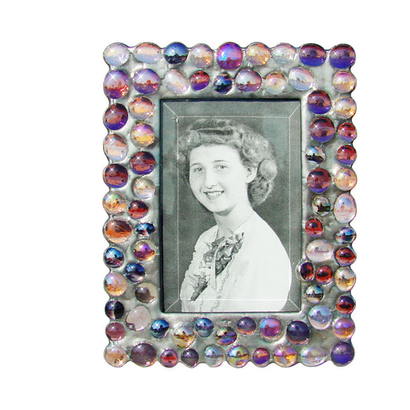 Diane Markin Bubble Purples Photo Frame BB-P, Artistic Artisan Designer Photo Frames
