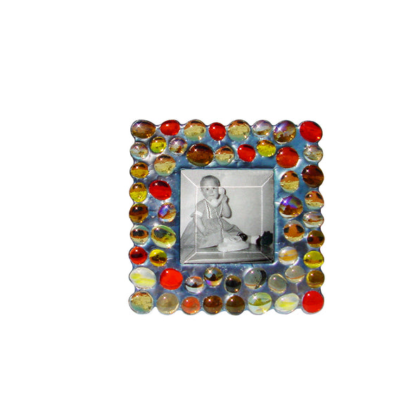 Diane Markin Bubble Yellow Photo Frame BB-Y, Artistic Artisan Designer Photo Frames