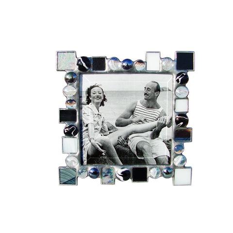 Dot Dash Black and White Photo Frame DD-BKW by Diane Markin
