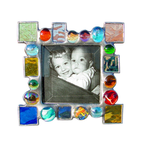 Diane Markin Dot Dash Multi Mix Photo Frame DD-M, Artistic Artisan Designer Photo Frames