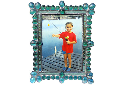 Diane Markin Edwardian Jewel Teal Photo Frame EJ-T, Artistic Artisan Designer Photo Frames