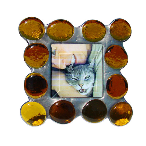 Diane Markin Fat Boy Amber Photo Frame FB-A, Artistic Artisan Designer Photo Frames
