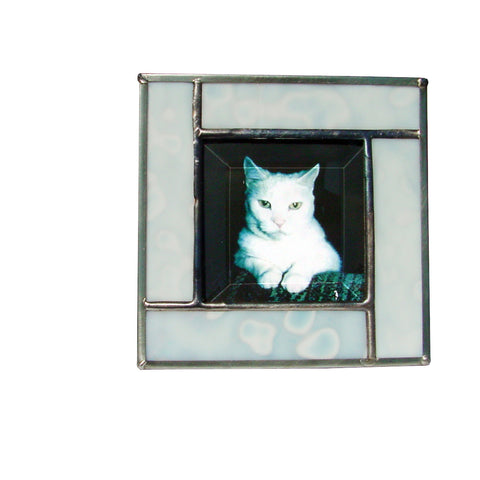 Diane Markin Freckle White Photo Frame FR-W, Artistic Artisan Designer Photo Frames