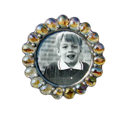 Jewel Cats Eye Amber Photo Frame JB-CA by Diane Markin