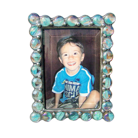 Jewel Cats Eye Blue Photo Frame JB-CB by Diane Markin