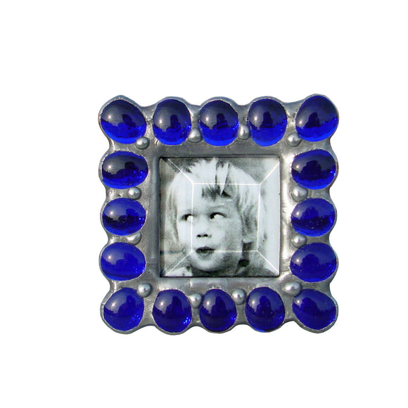 Diane Markin Jewel Cobalt Photo Frame JB-CO, Artistic Artisan Designer Photo Frames.jpg