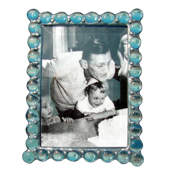 Diane Markin Jewel Light Blue Photo Frame JB-B, Artistic Artisan Designer Photo Frames