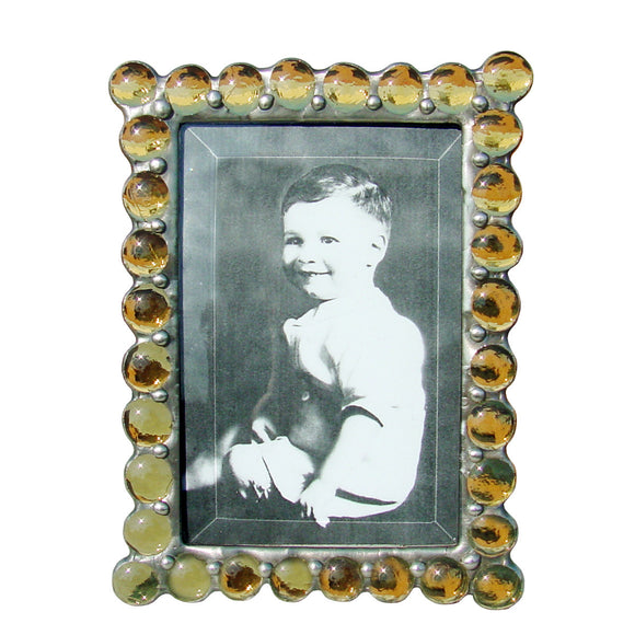 Diane Markin Jewel Yellow Photo Frame JB-Y, Artistic Artisan Designer Photo Frames