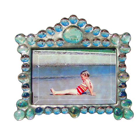 Diane Markin Marquee Horizontal Light Blue Photo Frame MH-B, Artistic Artisan Designer Photo Frames
