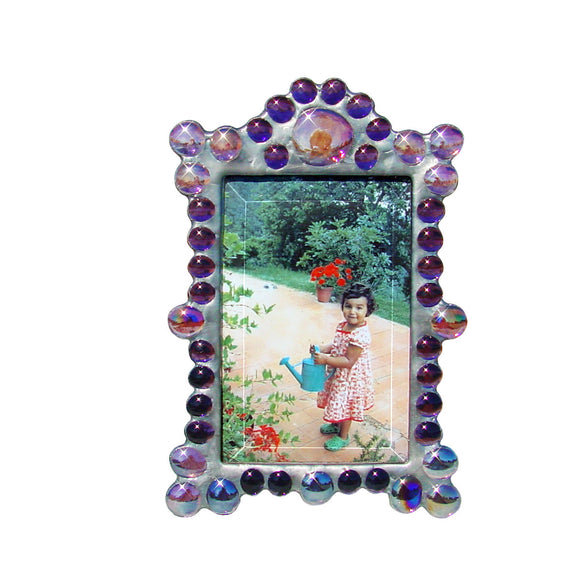 Diane Markin Marquee Vertical Purple Photo Frame MV-P, Artistic Artisan Designer Photo Frames