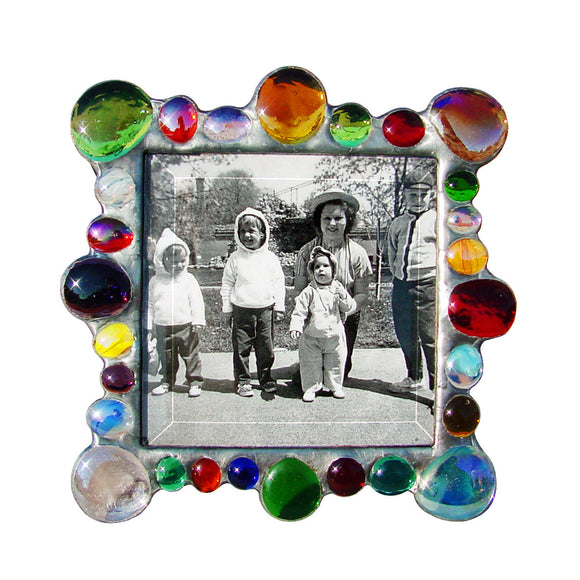 Diane Markin New Jewel Multi Mix Photo Frame NJ-M, Artistic Artisan Designer Photo Frames