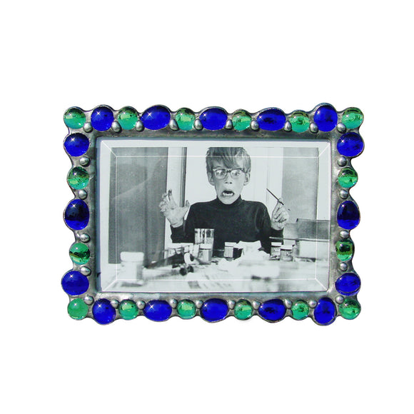 Diane Markin Various Jewel Cobalt-Teal Photo Frame VJB-CO-T, Artistic Artisan Designer Photo Frames