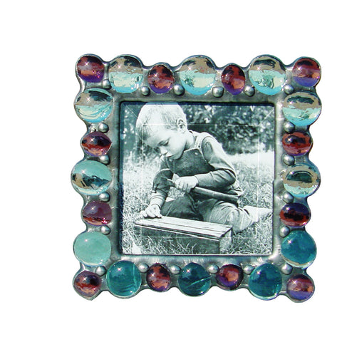 Diane Markin Various Jewel Light Blue-Purple Photo Frame VJB-B-P, Artistic Artisan Designer Photo Frames