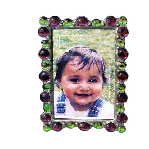 Diane Markin Various Jewel Purple-Lime Photo Frame VJB-P-L, Artistic Artisan Designer Photo Frames