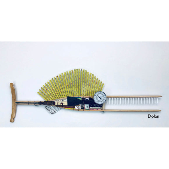 Dolan Wood Crutch Fish with Tape Measure Fin Fish Wall Art Sculpture by Stephen Palmer Running Dog Studios