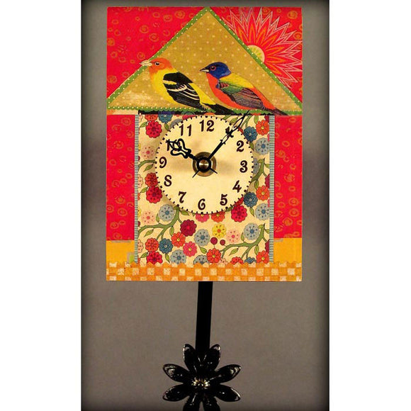 Duane Scherer Bird House Clock S38 Artistic Designer Clocks