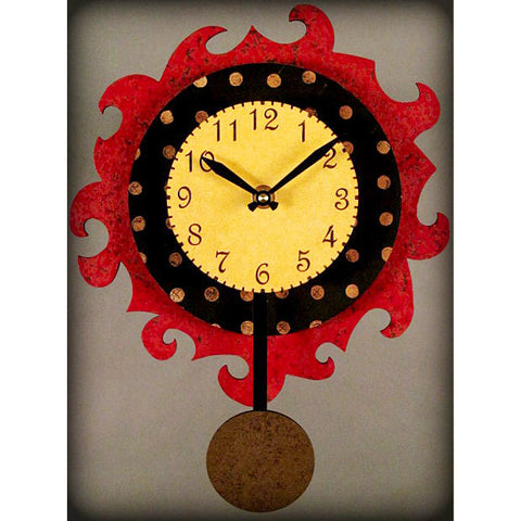 funky traditional wall clock a5 by duane scherer